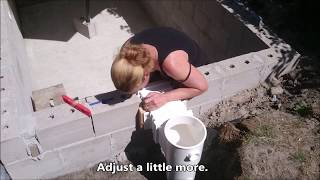 Nicole builds a Swimming Pool – Skimmer and inlet - Episode 4