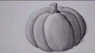 It's Pumpkin Time !! How To Draw A Pumpkin