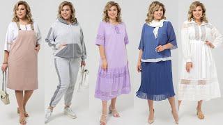 Одежда для полных женщин после 50 60 лет Белорусский трикотаж Стильные платья и костюмы