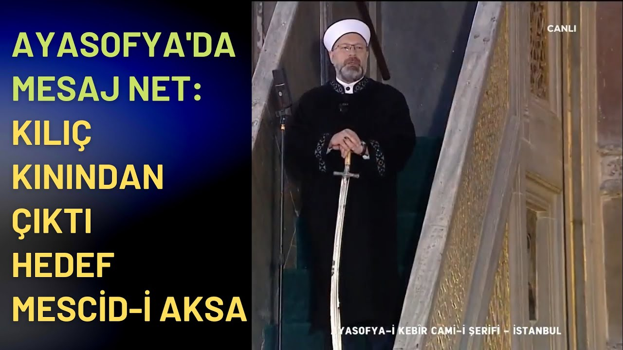 Ayasofya Camii'nde Kılıç Kınından Çıktı