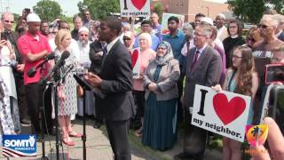 Press Conference Dar Al Farooq Islamic Center in Bloomington, From YouTubeVideos