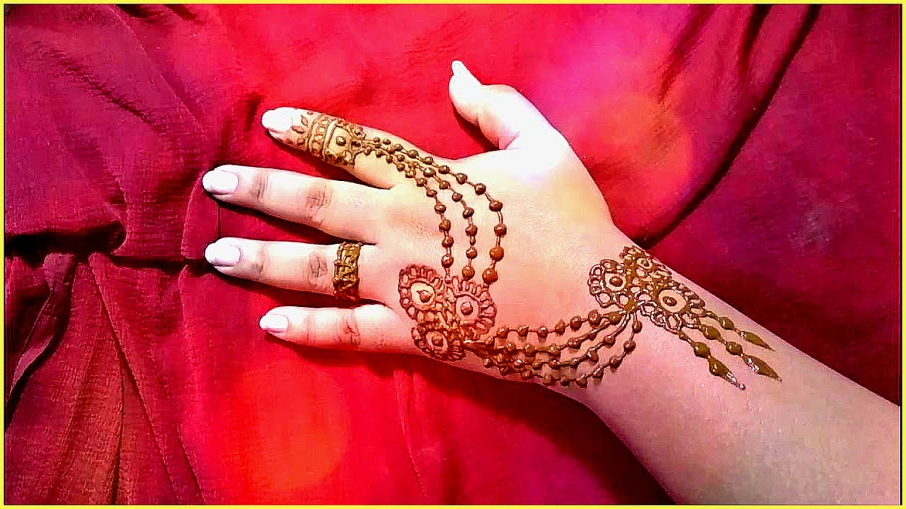 Simple Chain Mehendi Design With Brilliant Minimalist | domseksa.com