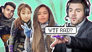 ..They roast me and commentate my gameplay live on stream lol.. - Valkyrae plays Apex Legends