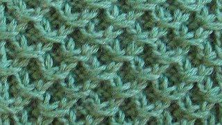 Рельефный узор сотами Вязание спицами Видеоурок 273
