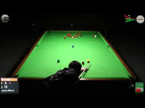 Oceania Snooker 2012 Mens Final Ben Judge v James Mifsud 2 of 2