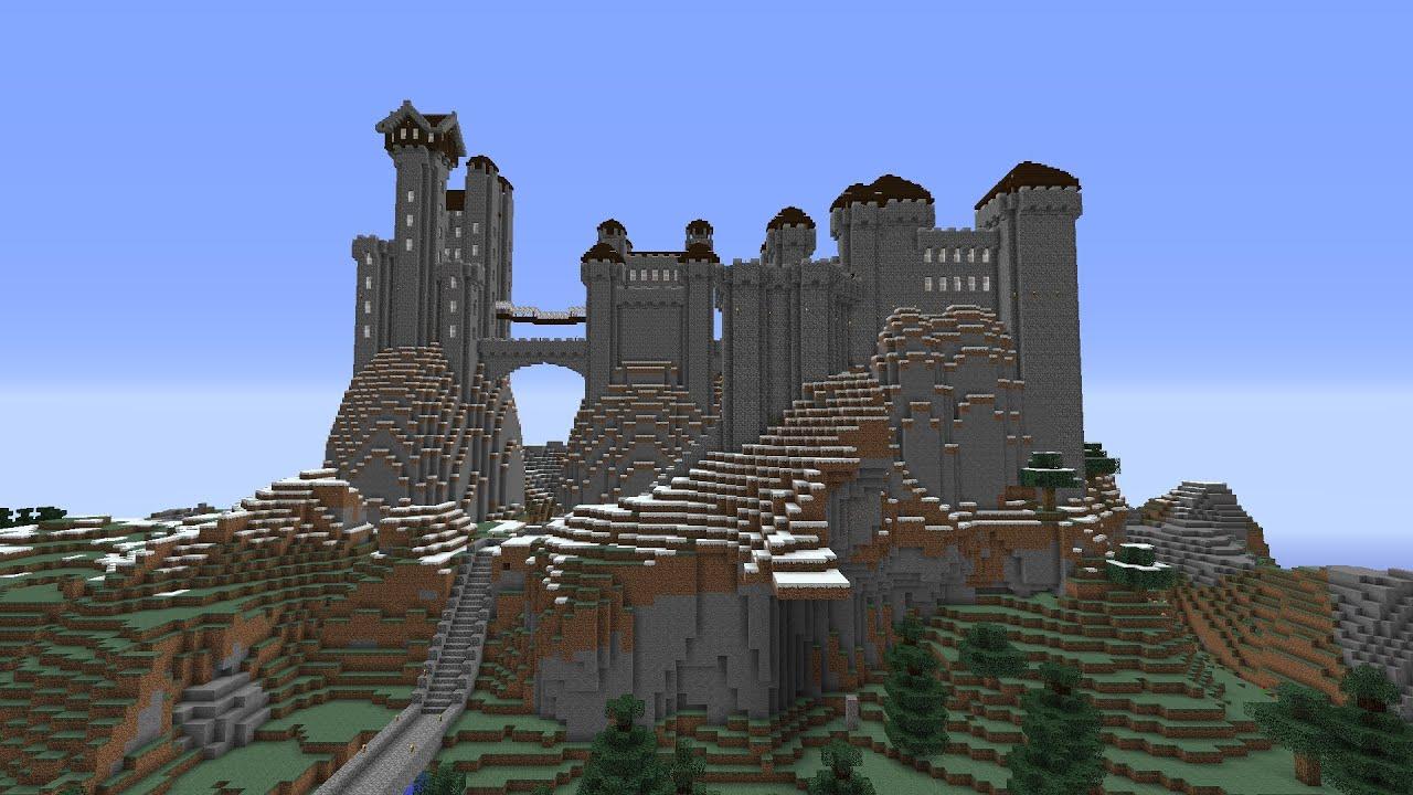 Minecraft 1 7 2 chateaux sur pique rocheux en 3 parti - Chateau de minecraft ...
