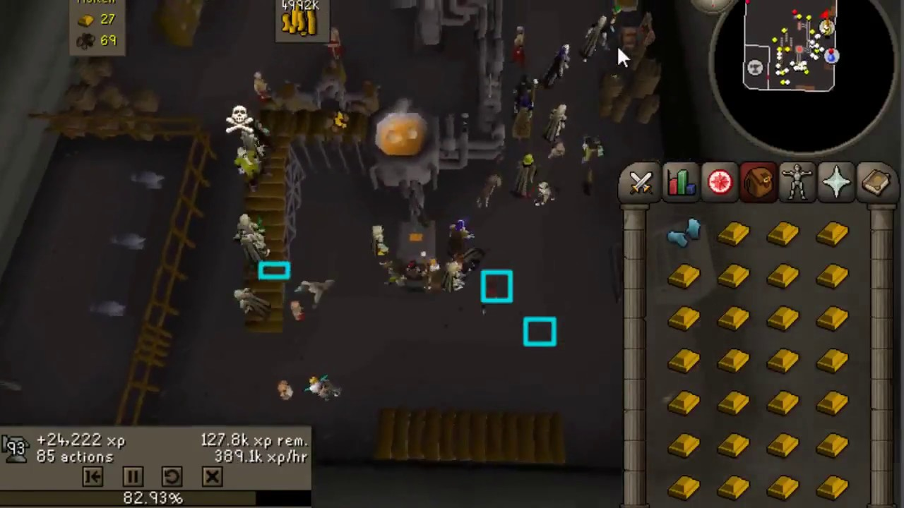 osrs smithing blast furnace gold 375k hr with glove switches