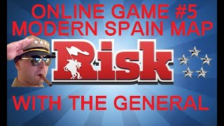 Risk Online Game #5 - Modern Spain Map - Commentary With The General HD(Series 5)