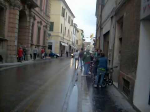 Sebatian Vettel a Faenza con la Toro Rosso