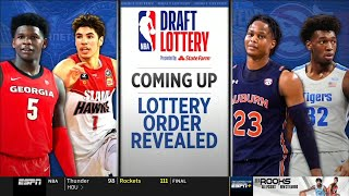 2020 NBA Draft Lottery - Top 14 Picks Revealed