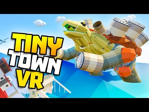 HUGE TSUNAMI & BLASTOISE BOAT MONSTER! - Tiny Town VR Gameplay Part 43 - VR HTC Vive Gameplay