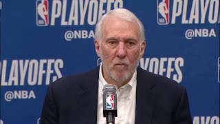 Gregg Popovich Postgame Interview - Game 7 | Spurs vs Nuggets | 2019 NBA Playoffs
