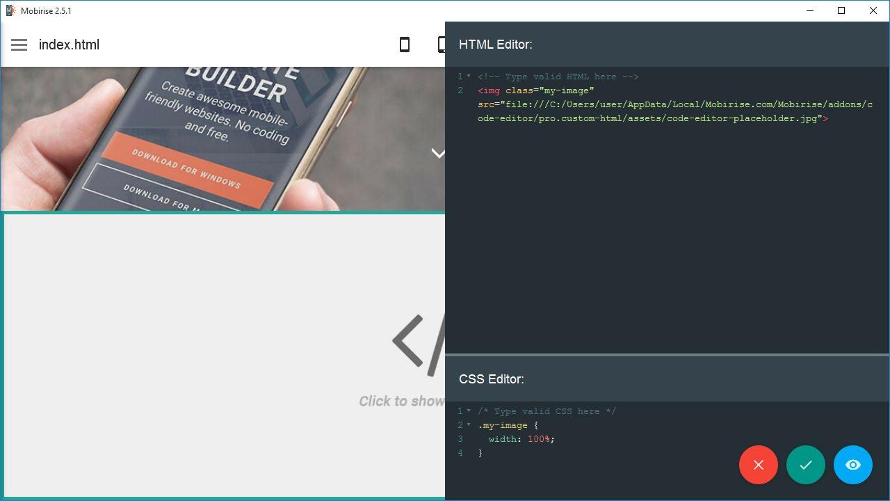 mobirise free mobile website builder software download