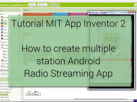 Android Tutorial - How to create Radio Streaming app (multiple stations) - MIT App Inventor 2