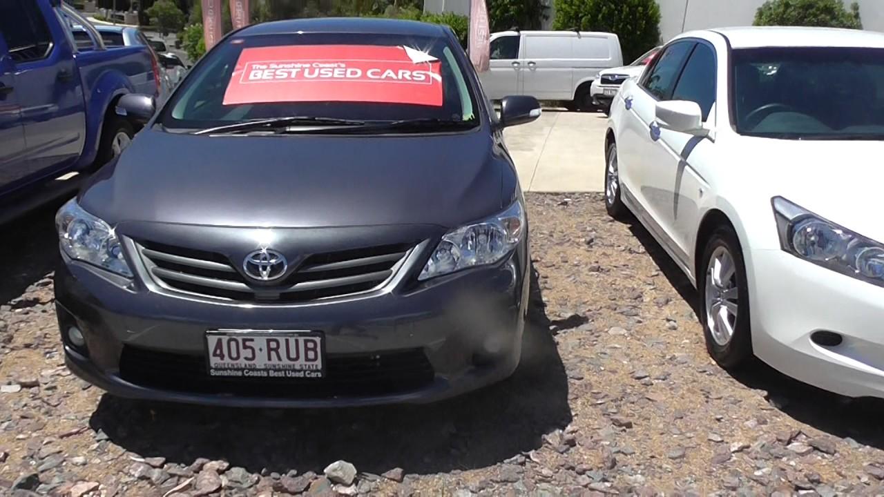 Sunshine coasts best used cars 2011 toyota corolla sport ux10951