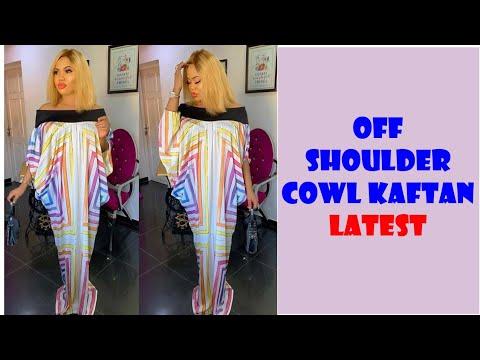 how-to-make-(diy)-a-trendy-off-shoulder-cowl-kaftan:-full-tutorial-#designer-latest-kaftan