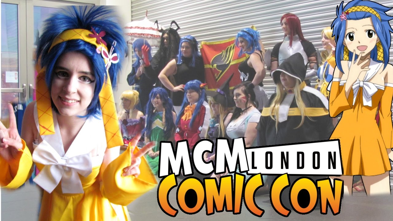 MY FIRST MEET Sunday October 2016 London MCM Comic Con Levy McGarden Fairy Tail Cosplay