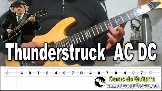 Como Tocar Thunderstruck En Guitarra Eléctrica AC/DC