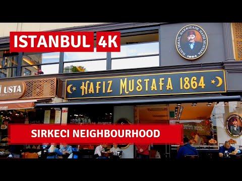 Istanbul 2021 Sirkeci Neighbourhood Walking Tour 16September 2021|4k UHD 60fps