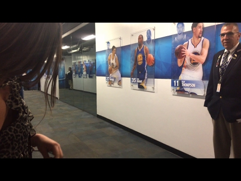 Golden State Warriors (66-14) postgame tunnel run vs Pelicans: Stephen Curry, Kevin Durant