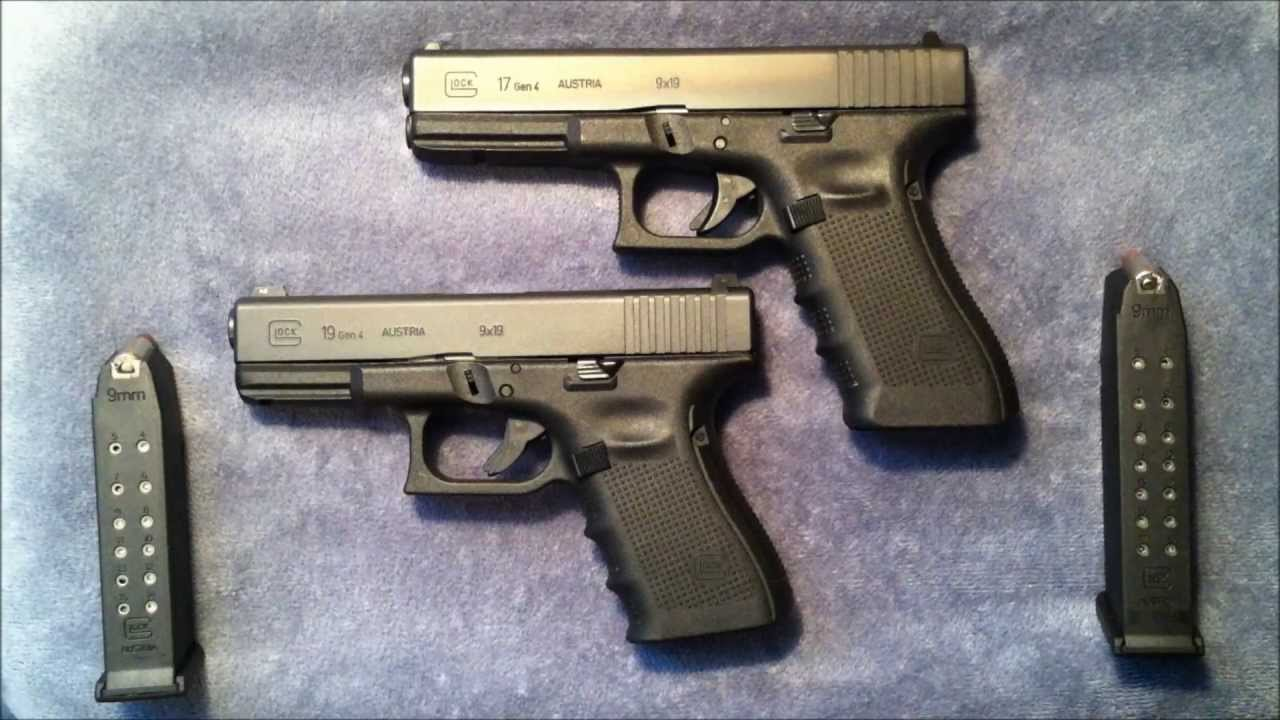 Glock 17 vs Glock 19 Size Comparison