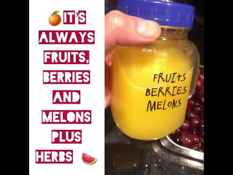 It's fruits , berries and melons for a good cleanse - detox and detoxification