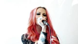 Butcher Babies live acoustic at Q102 Rock Room Sessions