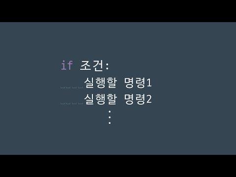 #37 if | 파이썬 강좌 코딩 기초 강의 Python | 김왼손의 왼손코딩