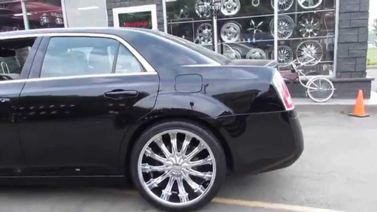 Hillyarc custom rim tire 2014 chrylser 300 riding on 22 inch custom chrome wheels youtube