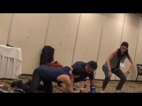 STOPD presents a boxing demo at the NPF education conference