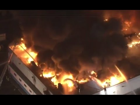 Los Angeles Processing Company Plant Burning (3/4/2017)