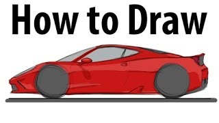 How to draw a Ferrari 458 Speciale - Sketch it quick!