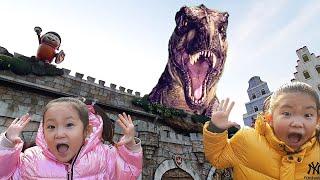 LoveStar are attacked by dinosaurs