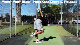 How to Bowl Faster| Bowling Drills| Front Foot Block with High Knee Progression