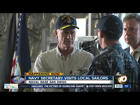 Navy secretary visits local sailors