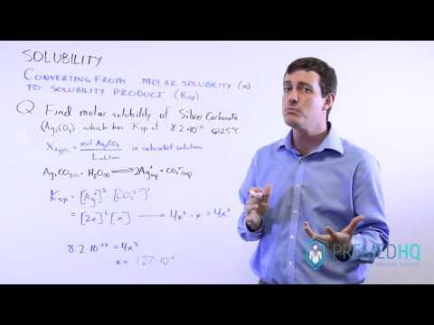 Solubility | Molar Solubility And Solubility Product (Ksp) With Worked Example Problem!