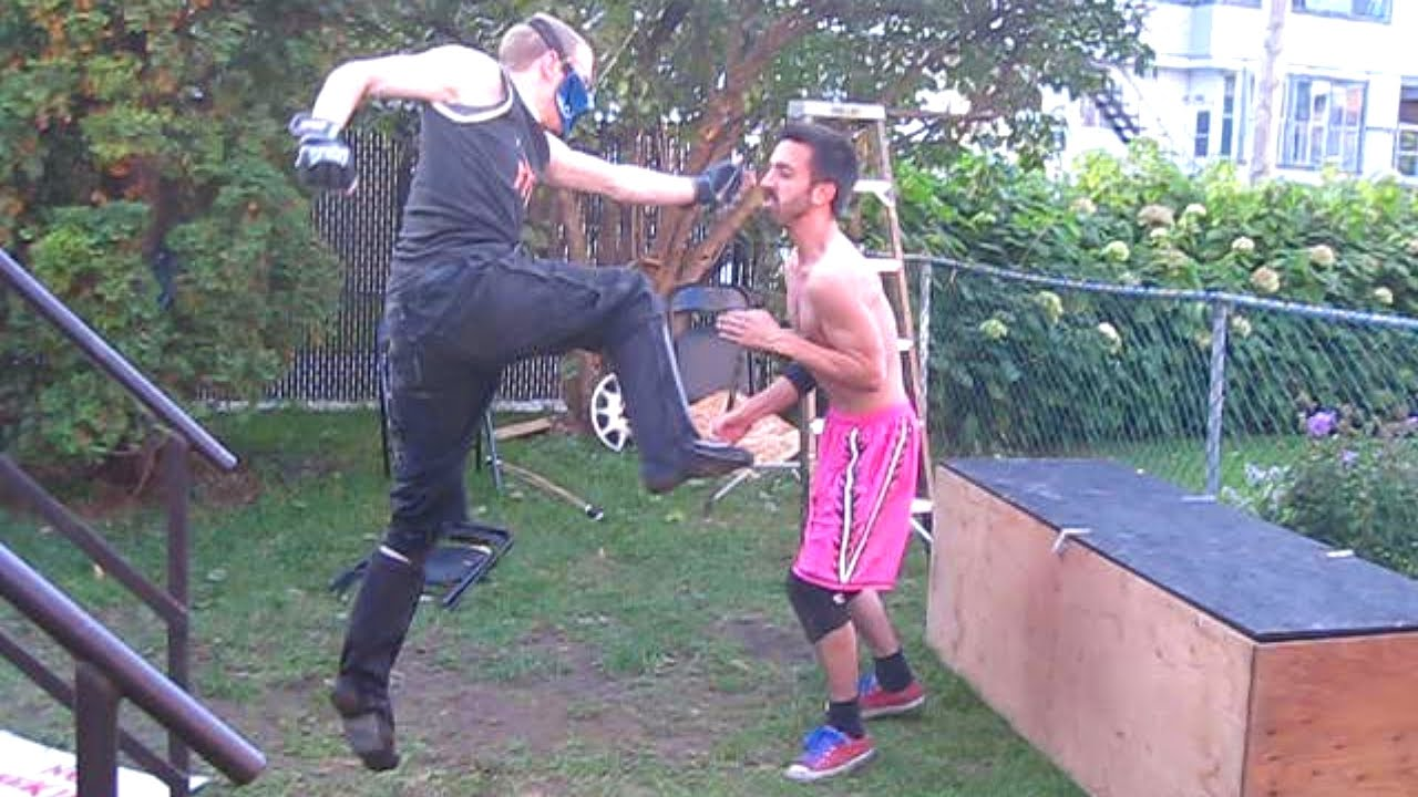casket match xacutor vs chris vega chw backyard wrestling