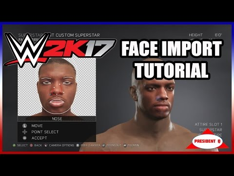 How To Put Your Face into WWE 2K17 (Face Import Tutorial)