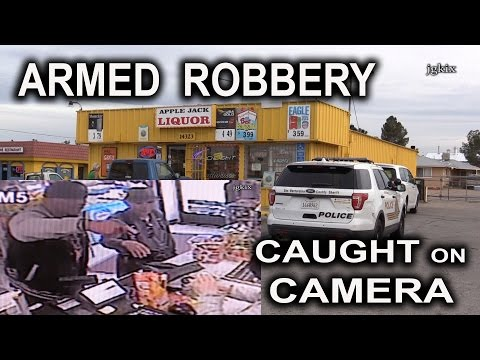 Armed Robbery Caught on Camera
