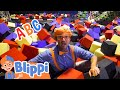Blippi Learns The ABC's At a Trampoline Park For Kids | Educational Videos For Children