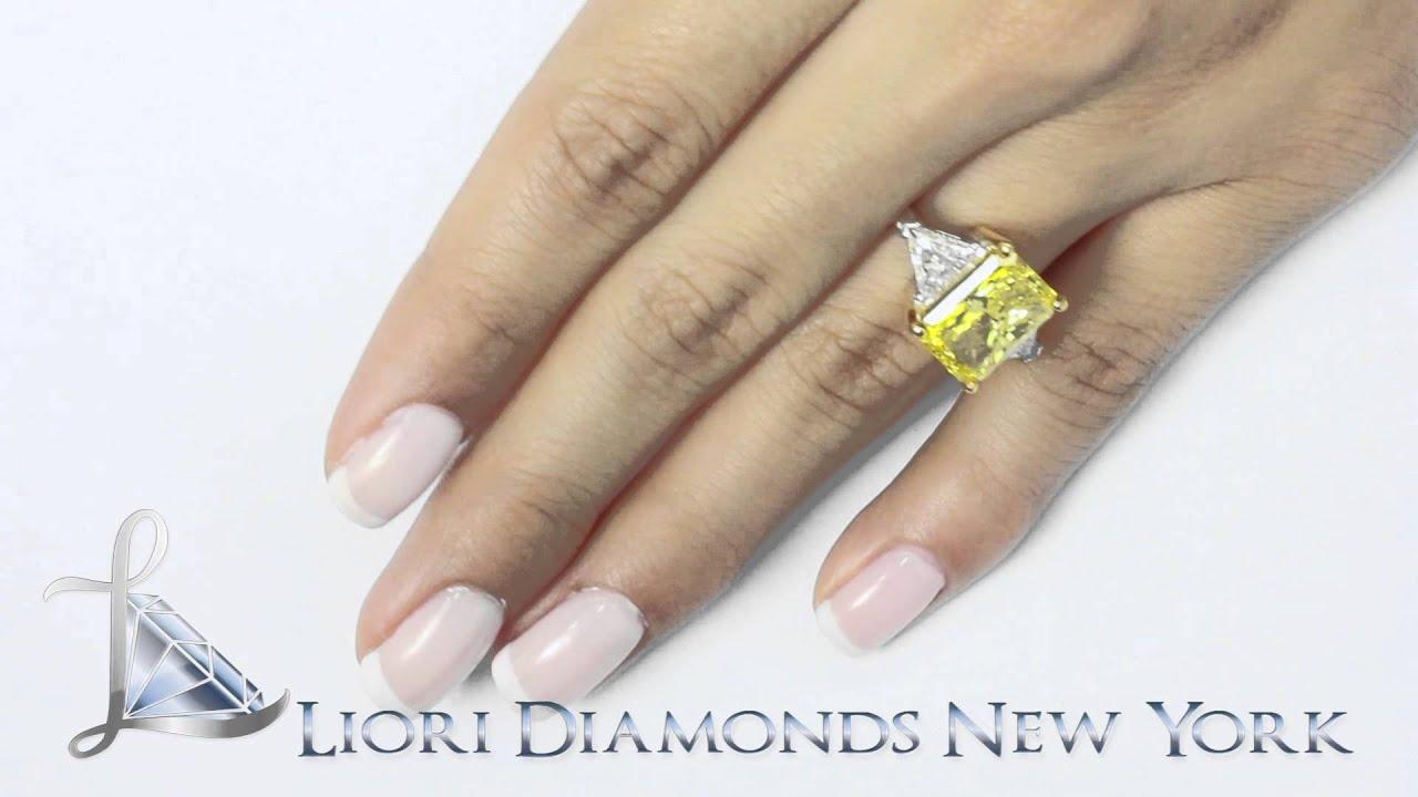fd sold 082 7 76 carat fancy yellow radiant cut diamond