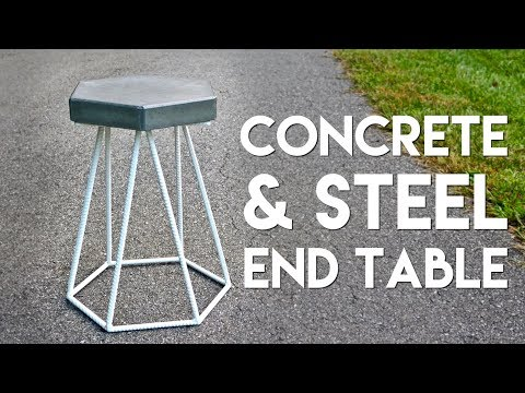 DIY Concrete and Steel Outdoor End Table   How To Build - Welding