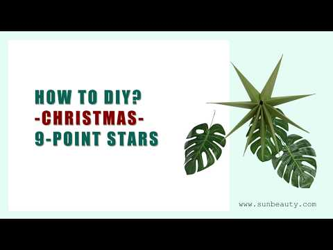 How To DIY Make Paper Star Lantern for Christmas Decoration