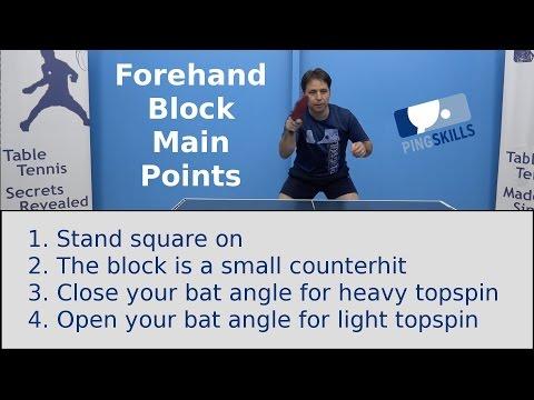 Forehand Block | Table Tennis | PingSkills