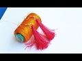 DIY | How to Make Silk Thread Ear Rings At Home By Srujana TV