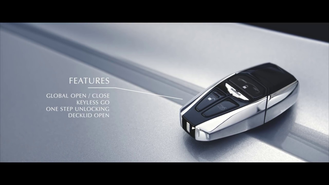 A newly designed key | Aston Martin DB11 - YouTube