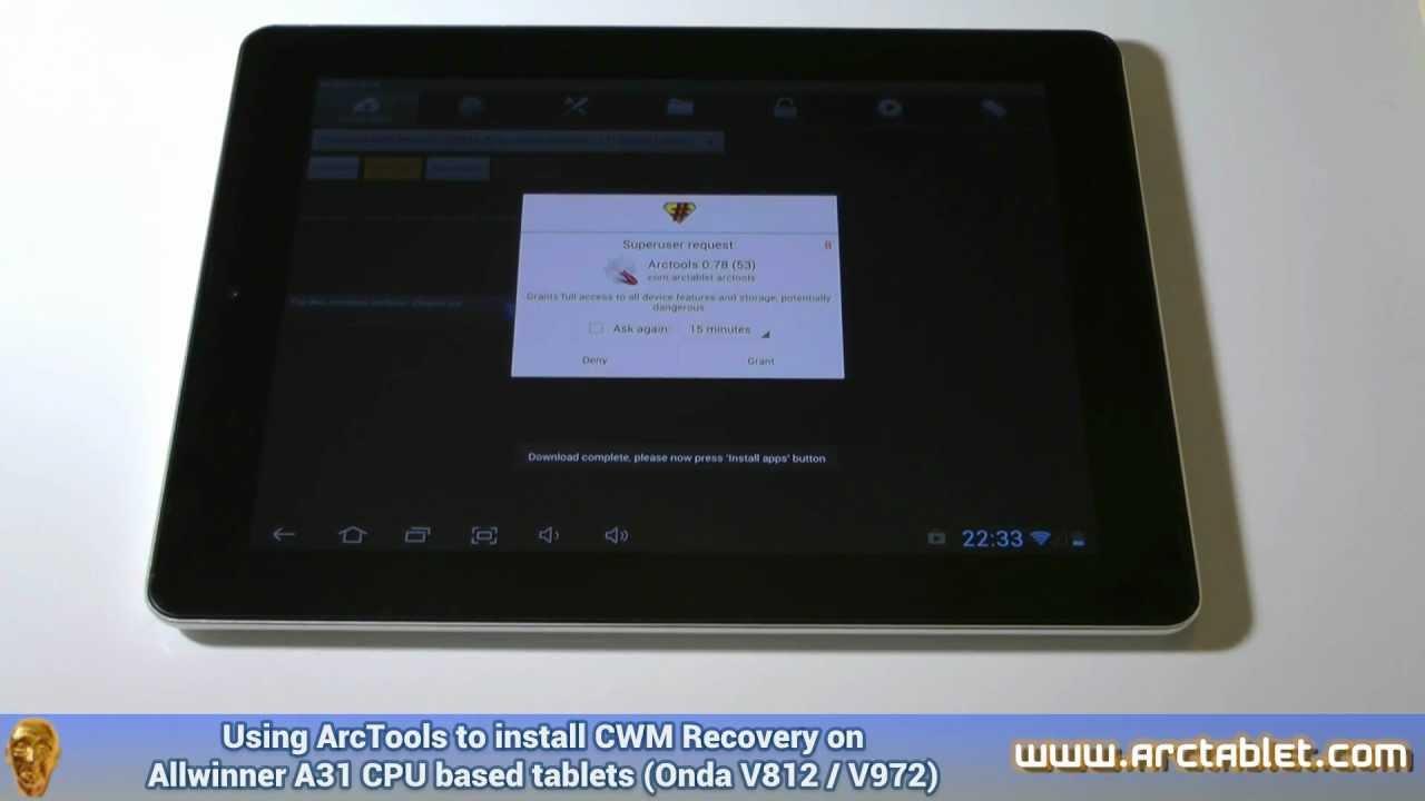Installing CWM or TWRP Recovery on ONDA V972 / V812 (Allwinner A31