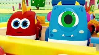 Пять маленьких утят - Five Little Ducks - Машинки Мокас - Песенки для детей