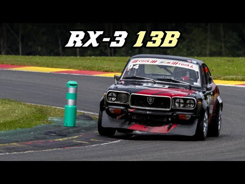 1973 Mazda RX-3 13B historic racecar at Spa 2018