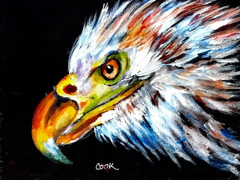 A step by step tutorial on how to paint an eagle using simple glazing tricks